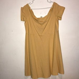 Yellow with white stripe summer dress